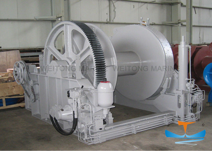 Hydraulic Marine Electric Winch Waterfall Type Manual Emergency Operating Mode