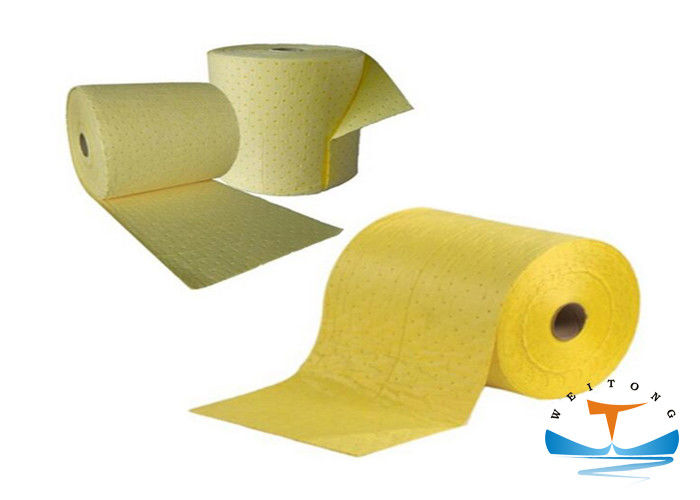 Spill Response Hazmat Yellow Chemical Absorbent Roll