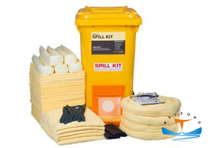 Yellow Hazardous Spill Response Chemical Spill Kits