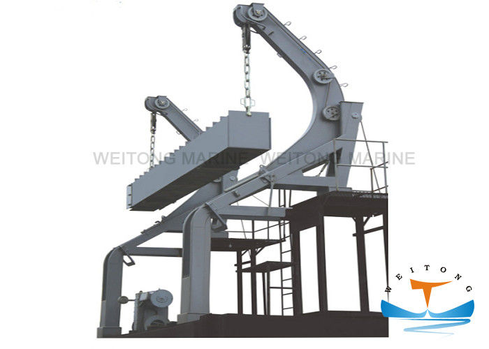 Steel Gravity Luffing Arm Type Davit 85 Kn Working Load With Boat Own Gravity Power